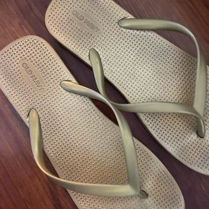 Gold Old Navy Flip Flops